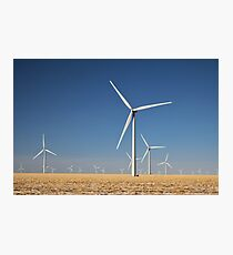 Winter Wind Turbines #7 Photographic Print