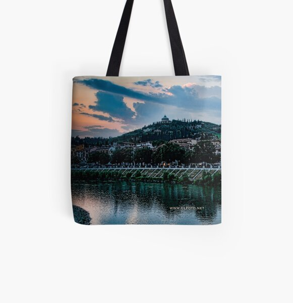 Hillside above Verona, Italy All Over Print Tote Bag