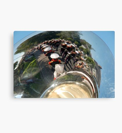 Reflections of a brass band Canvas Print