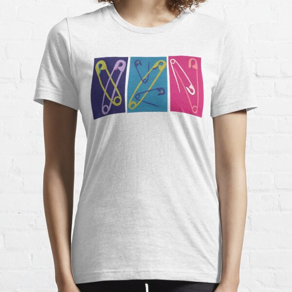 Multiple Safety Pins - Teal, Purple, and Pink Essential T-Shirt