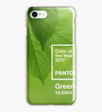pantone greenery iPhone Case/Skin
