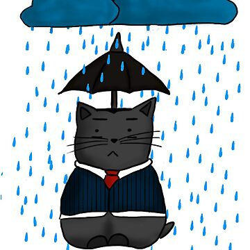 Mycat Holmes in the Rain by consultingcat