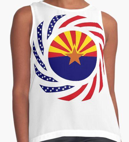 Arizonan Murican Patriot Flag Series Sleeveless Top
