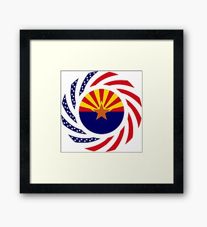 Arizonan Murican Patriot Flag Series Framed Print