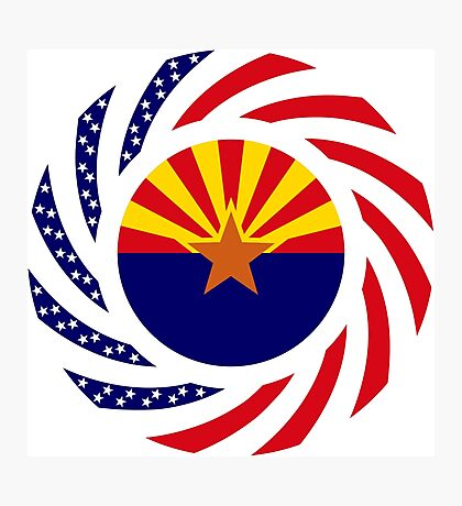 Arizonan Murican Patriot Flag Series Photographic Print