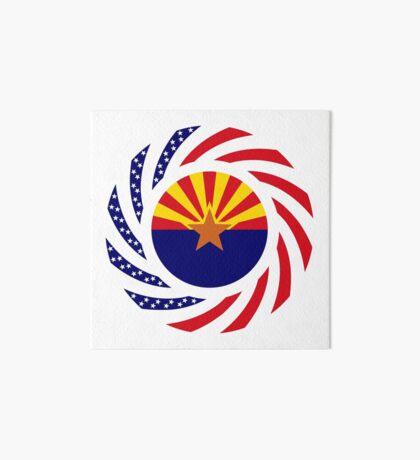 Arizonan Murican Patriot Flag Series Art Board Print