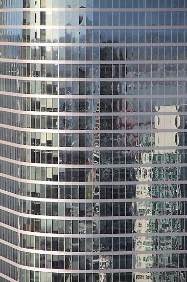Reflections. Skyscraper Detail from Harbour Tower, Vancouver City, Canada.  by Carole-Anne