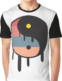 Sunset Yin Yang Graphic T-Shirt