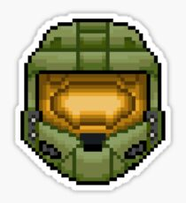Master Chief Pixel Sticker