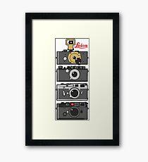 Leica camera evolution Framed Print