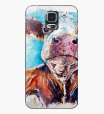 Optimistische Kuh Hülle & Klebefolie für Samsung Galaxy
