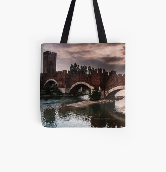 Castlevecchio Bridge, Verona, Italy All Over Print Tote Bag