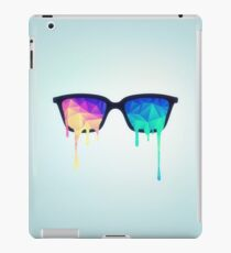 Psychedelic Nerd Glasses with Melting LSD/Trippy Color Triangles iPad Case/Skin