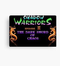 Shadow Warriors 2 (NES) Canvas Print