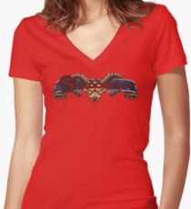 Shadowrun (SNES Title Screen) Women's Fitted V-Neck T-Shirt