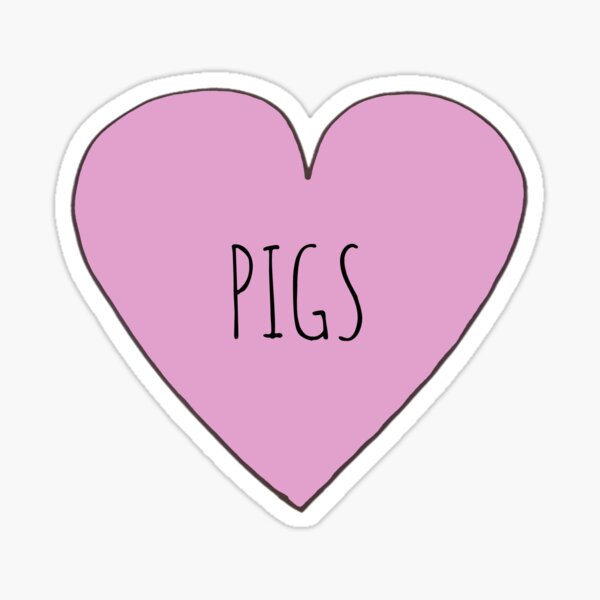 Pig Love Sticker
