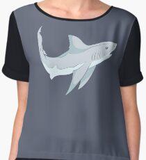 Curious Cute Grey Shark Women's Chiffon Top