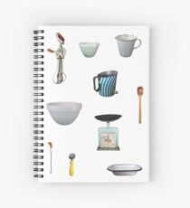 Love to Bake! - white background Spiral Notebook