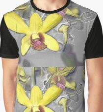 Oil Slicked Orchids Graphic T-Shirt