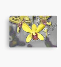 Oil Slicked Orchids Canvas Print