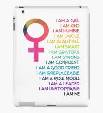 I am a girl, I am confident, I am me iPad Case/Skin