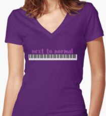 Next to Normal Women's Fitted V-Neck T-Shirt