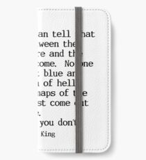 Stephen King Quote iPhone Wallet/Case/Skin