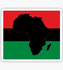 Symbol of Africa - Pan African Flag Sticker