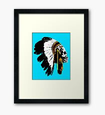 Indian chief skull Framed Print