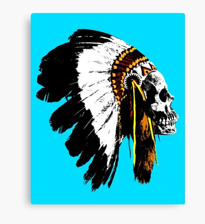Indian chief skull Canvas Print