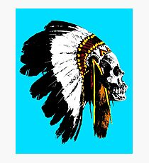 Indian chief skull Photographic Print