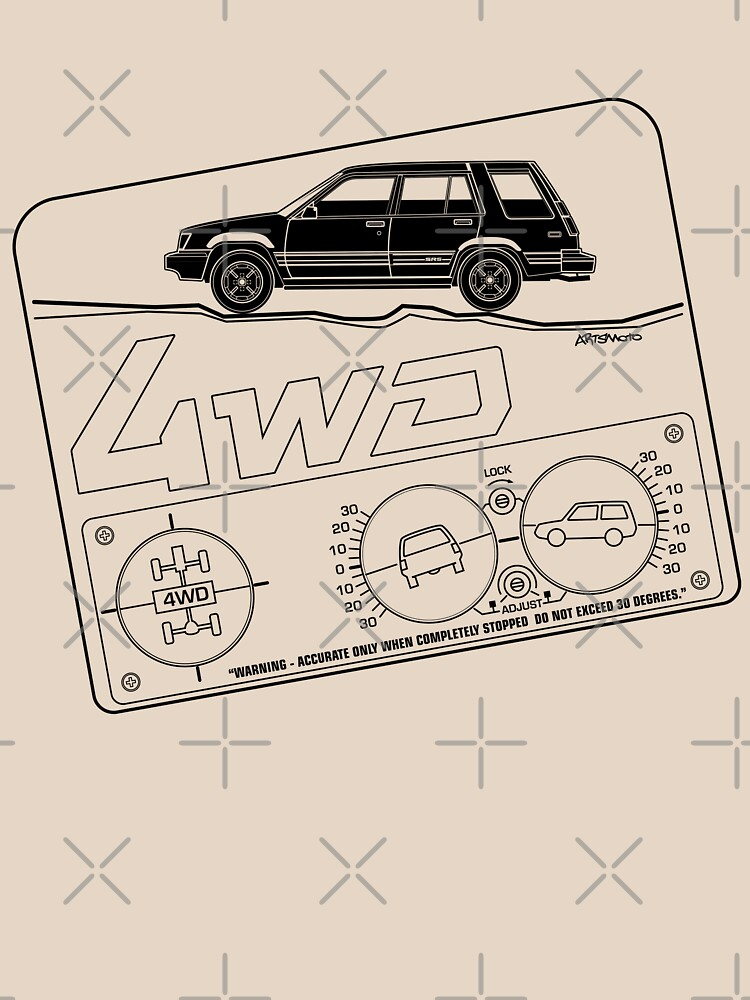 Toyota Tercel SR5 4WD Wagon AL25 BW Clinometer by monkeycom