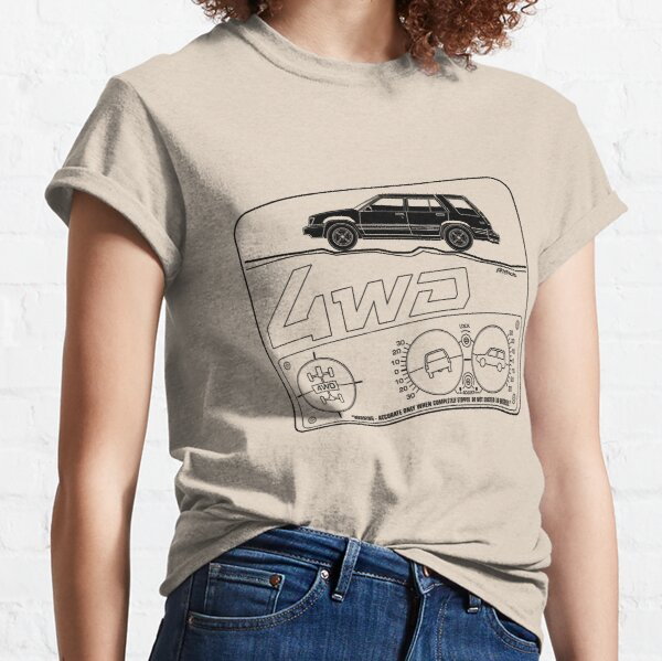 Toyota Tercel SR5 4WD Wagon AL25 BW Clinometer Classic T-Shirt