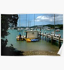 A peaceful corner of Opua, Bay of Islands, New Zealand.....! Poster