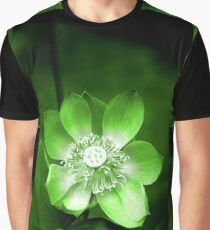 Green Lotus Flower, or Water Lily Graphic T-Shirt