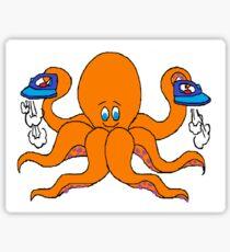 Ironing Octupus Sticker