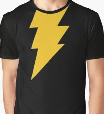 Adam Shazam Black Graphic T-Shirt