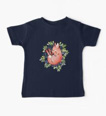 Sleeping fox and blue berries Kids Clothes