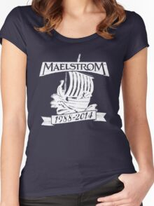 Maelstrom (WHITE) Women's Fitted Scoop T-Shirt