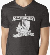 Maelstrom (WHITE) Men's V-Neck T-Shirt