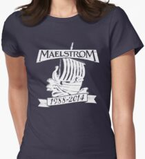 Maelstrom (WHITE) Women's Fitted T-Shirt
