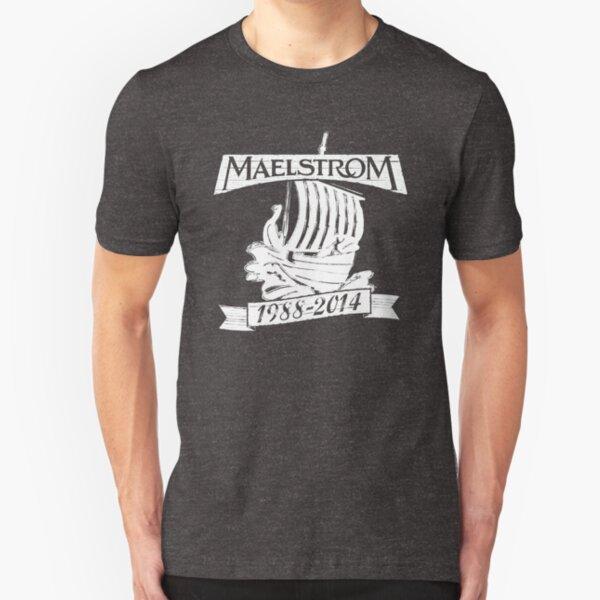 Maelstrom (WHITE) Slim Fit T-Shirt