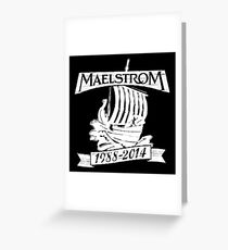 Maelstrom (WHITE) Greeting Card