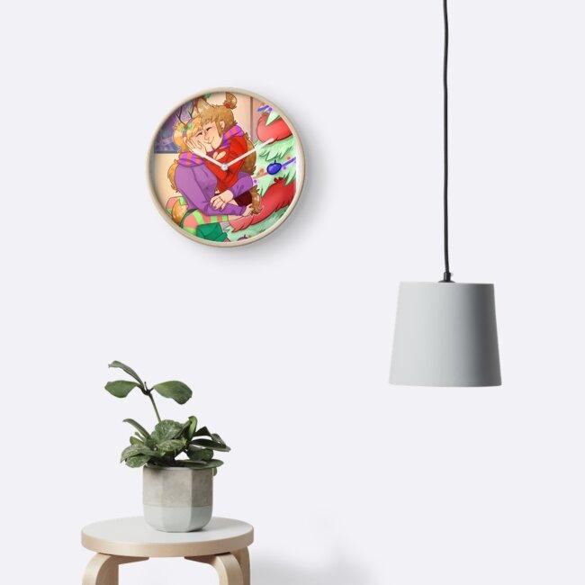 ellsworld tori x matilda clocks by dioneartworks redbubble