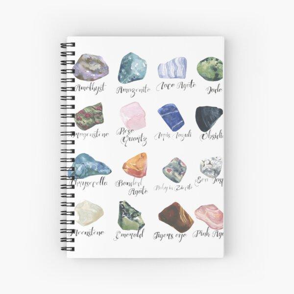 Watercolor gemstones geology print Spiral Notebook