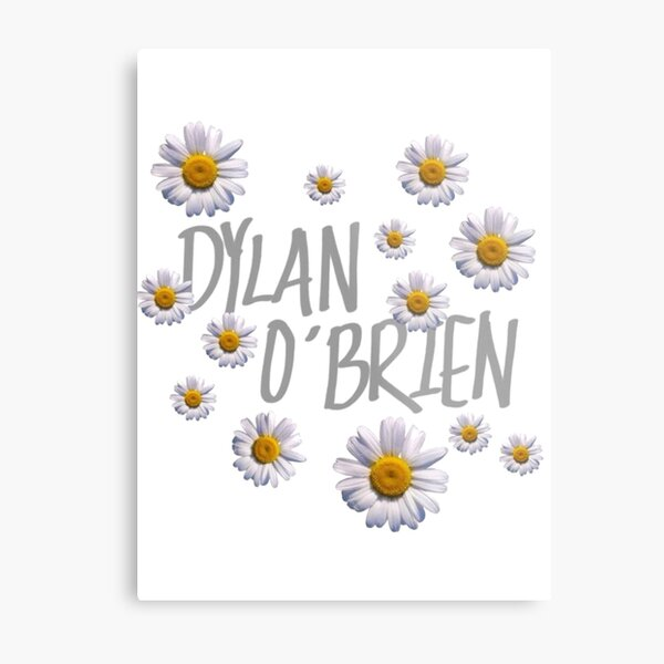 dylan o'brien and flowers Metal Print
