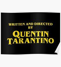 Quentin Tarantino Titles Poster