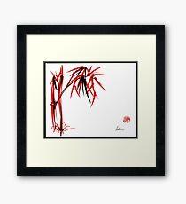 """Nature's Kiss"" Original Chinese Brush Painting Framed Print"