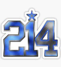 214 Bling (Blue 21/White 4) Sticker