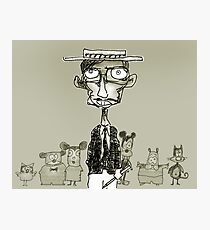 cartoonist Photographic Print